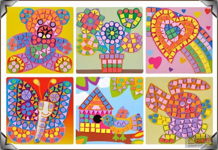 .eva马赛克粘贴画立体贴画儿童玩具 DIY手工制作