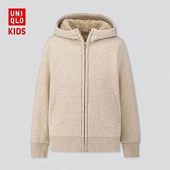 UNIQLO 优衣库 儿童仿羊羔绒连帽外套