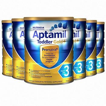 21日0点、双11预售:Aptamil 爱他美 金装 婴幼儿奶粉 3段 900g*6罐