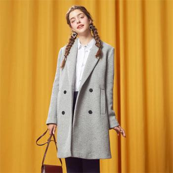 天猫99大促:美特斯邦威 女士羊毛呢大衣