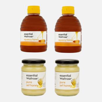 Waitrose 纯结晶蜂蜜 454g*2瓶+纯清澈蜂蜜 454g*2瓶