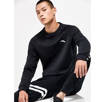 双11预售:安踏 男士2018年新款舒适加绒运动卫衣